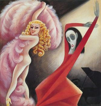 Sally Rand and Martha Graham by Miguel Covarrubias (1934); courtesy Vanity Fair