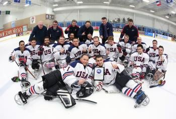 The USA team won silver at the world championship in Korea last month; Kevin McKee is third from the right