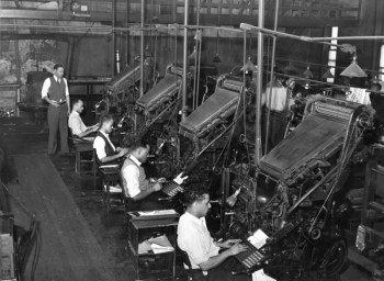 Linotype operators of the Chicago Defender, 1941
