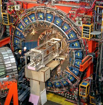 Fermilab's equipment records what happens when protons and antiprotons collide.