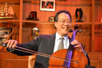 Yo-Yo Ma in the Chicago Tonight studio