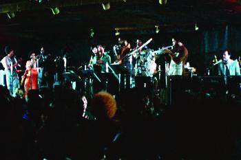 The Stony Island Band performs in the movie