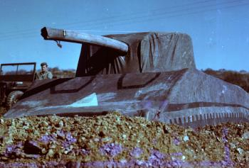 93 pound inflatable tank, of the kind used by The Ghost Army; courtesy: National Archives