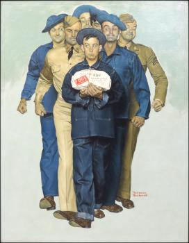 "Norman Rockwell's ""Willie Gillis: Package from Home""; courtesy Susanin's Auctions"