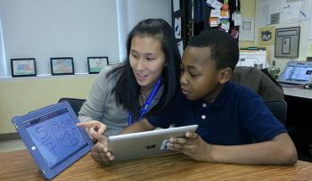 Chicago teacher Jennie Magiera was a tech skeptic, but has since successfully integrated technology into her classroom; image credit: ed.gov