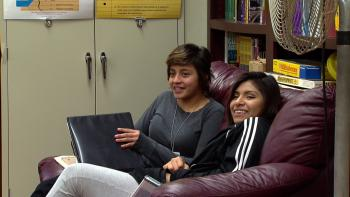 Though Jacqueline Monterroso, left, is not an undocumented student, she joined the Dream Team to support friends who don't have legal status.