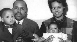 Fraser Robinson and Marian Shields Robinson, Mrs. Obama's parents, with baby Michelle and her brother, Craig Robinson. Courtesy Barack Obama Campaign