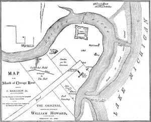 Mouth of Chicago River, 1830. (A. T. Andreas, History of Chicago [1884])