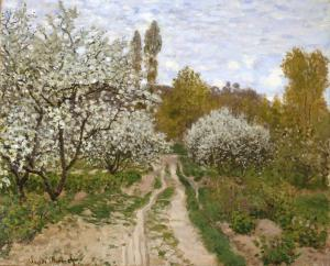 Claude Monet (1840-1926), Pommiers en fleurs (Apple Trees in Blossom), 1827, oil on canvas. Click image to view photo gallery.