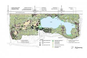 Rendering of the nature preserve.