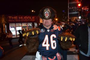 "Chicago Bears superfan Don ""Bearman"" Wachter poses for a photo at the NFL Draft."