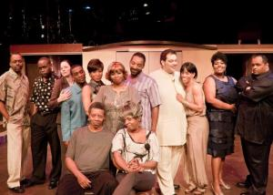 "The cast of the Black Ensemble Theater's most recent production, ""All in Love Is Fair."""