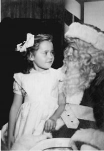 Deirdre with Al as he plays Santa