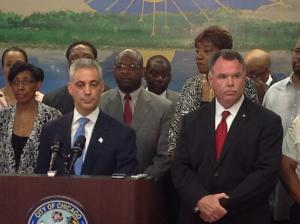 Mayor Rahm Emanuel and Chicago Police Supt. Garry McCarthy