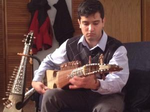 Habib Wardak plays the Rubab; click image to view photo gallery
