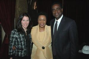 Jackie Taylor with 2010 Black Ensemble Gala Co-Chairs Natalie Spears and Ron Redd.