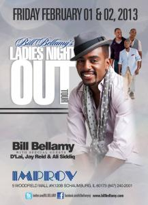 Bill Bellamy at the Chicago Improv; courtesy of the Chicago Improv