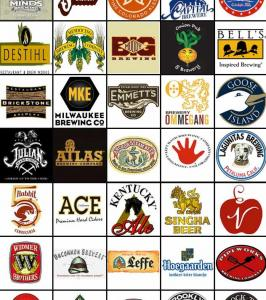 Breweries featured at the Chicago Beer Festival. Courtesy of the Chicago Beer Festival.