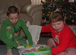 Kira and Christian, Christmas 2011; photo courtesy of Mammoser family
