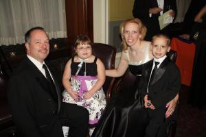 Mammoser family at the Starlight Gala, May 2010; photo courtesy of Mammoser family