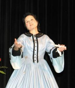 Pam Brown as Mary Todd Lincoln