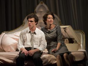 Academy Award nominee Diane Lane (Princess Kosmonopolis) costars with Broadway's Finn Wittrock (Chance Wayne) in Tennessee Williams' Sweet Bird of Youth directed by David Cromer at Goodman Theatre. Photo Credit: Liz Lauren