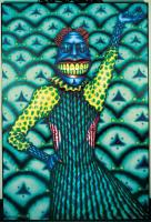 "Ed Paschke, Cobmaster, 1975, oil on canvas, 74"" x 50"". Click image to view photo gallery."