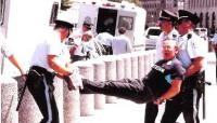 Darby arrested at 1993 White House demonstration