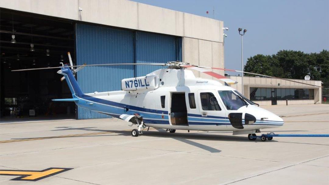 A Sikorsky helicopter like the one pictured here is one type of helicopter operated by the Illinois Department of Transportation's Aeronautics Division. (Illinois.gov)