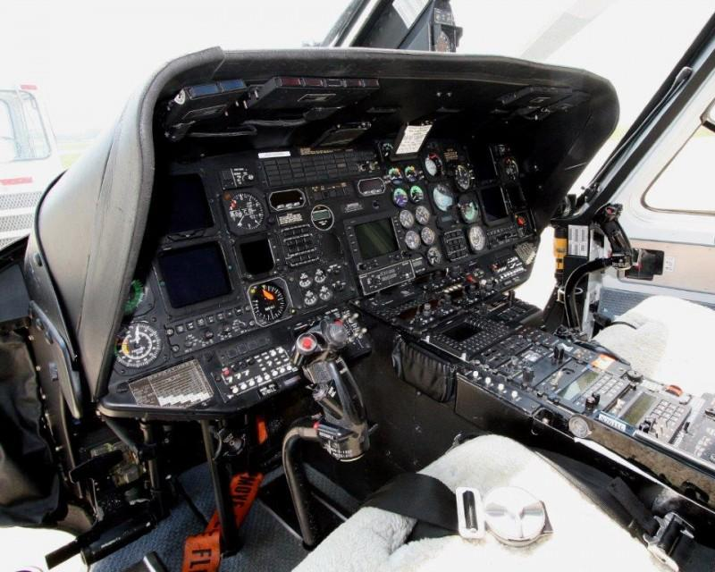 The cockpit of a Sandusky helicopter auctioned by the state of Illinois. (Illinois.gov)