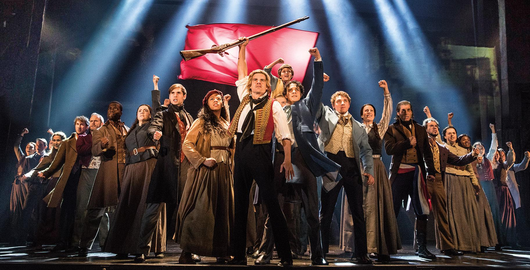 "The touring cast of ""Les Miserables."" (Photo by Matthew Murphy)"