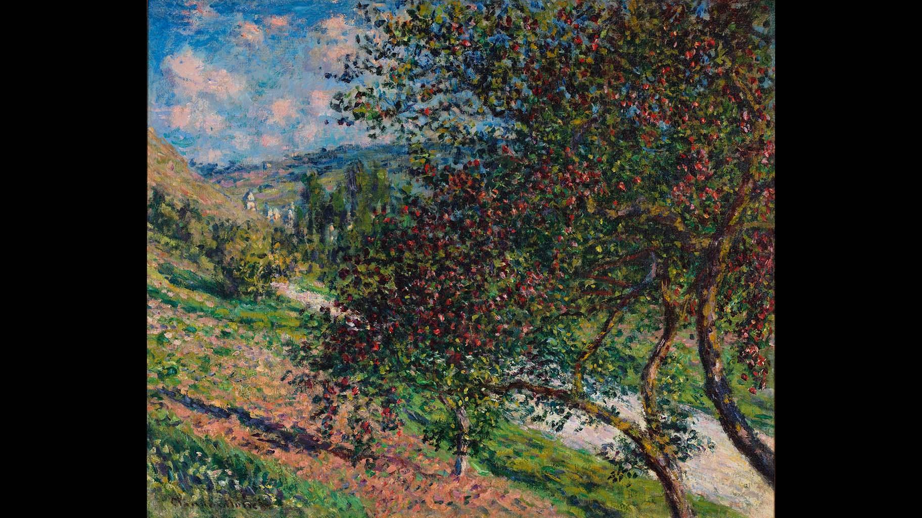 Claude Monet. Apple Trees, Vétheuil, 1878. Private collection. Photo by Jamie Stukenberg, Professional Graphics Inc.