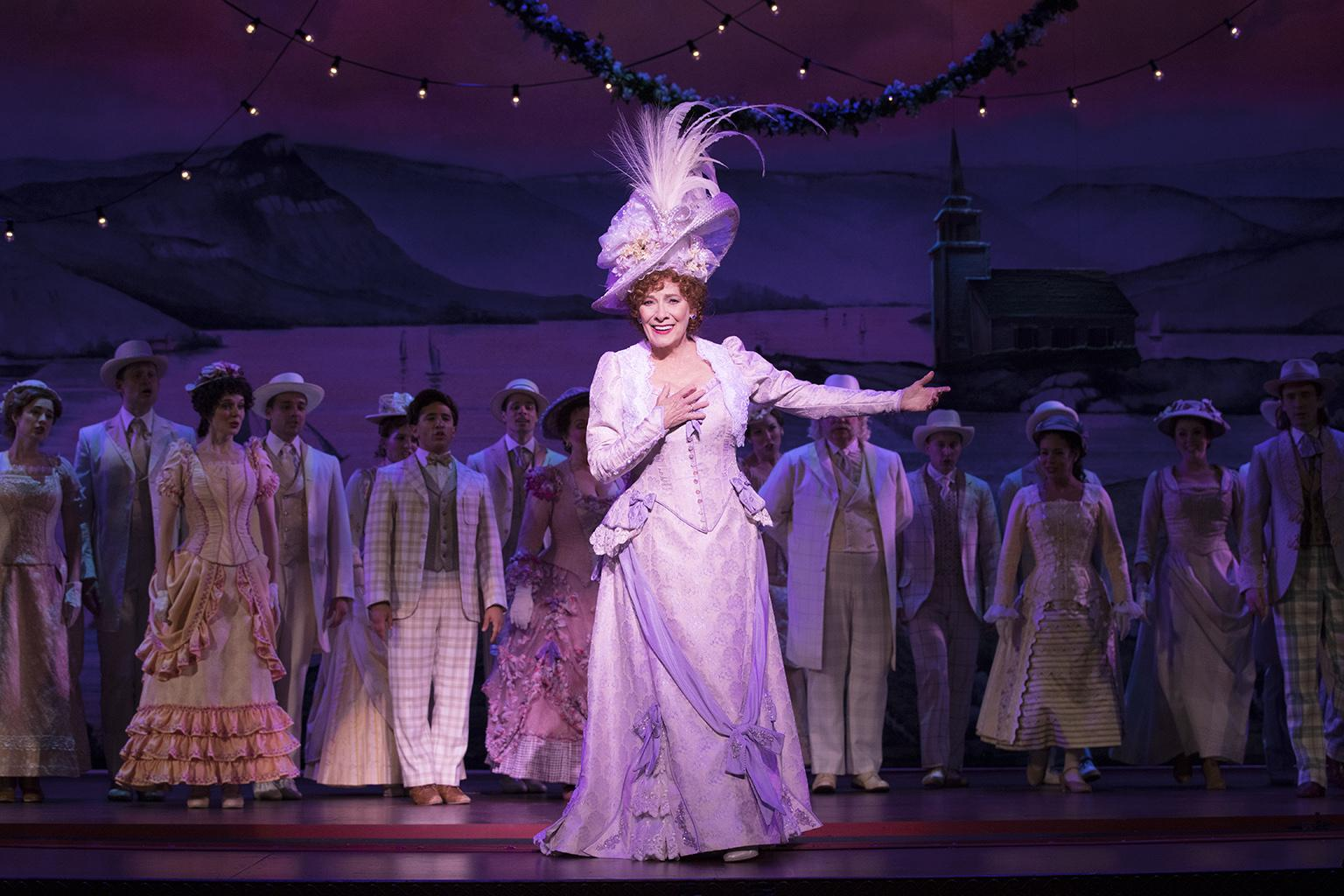"Betty Buckley, center, and the ""Hello, Dolly!"" National Tour Company – 2018. (Photo credit: Julieta Cervantes)"