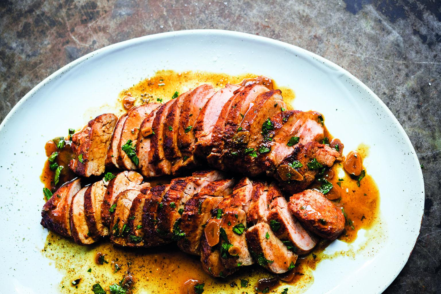 Paprika-Rubbed Pork Tenderloin: Click image to get the recipe.