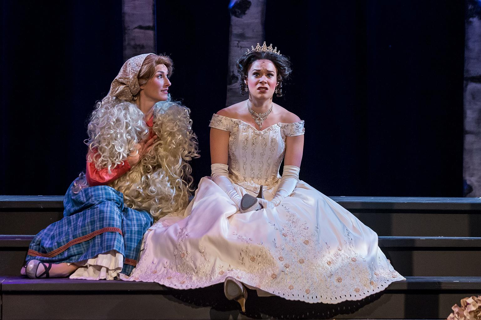 "Alexis Armstrong, left, and Kelly Britt in Music Theater Works' ""Into the Woods."" (Photo credit: Brett Beiner)"