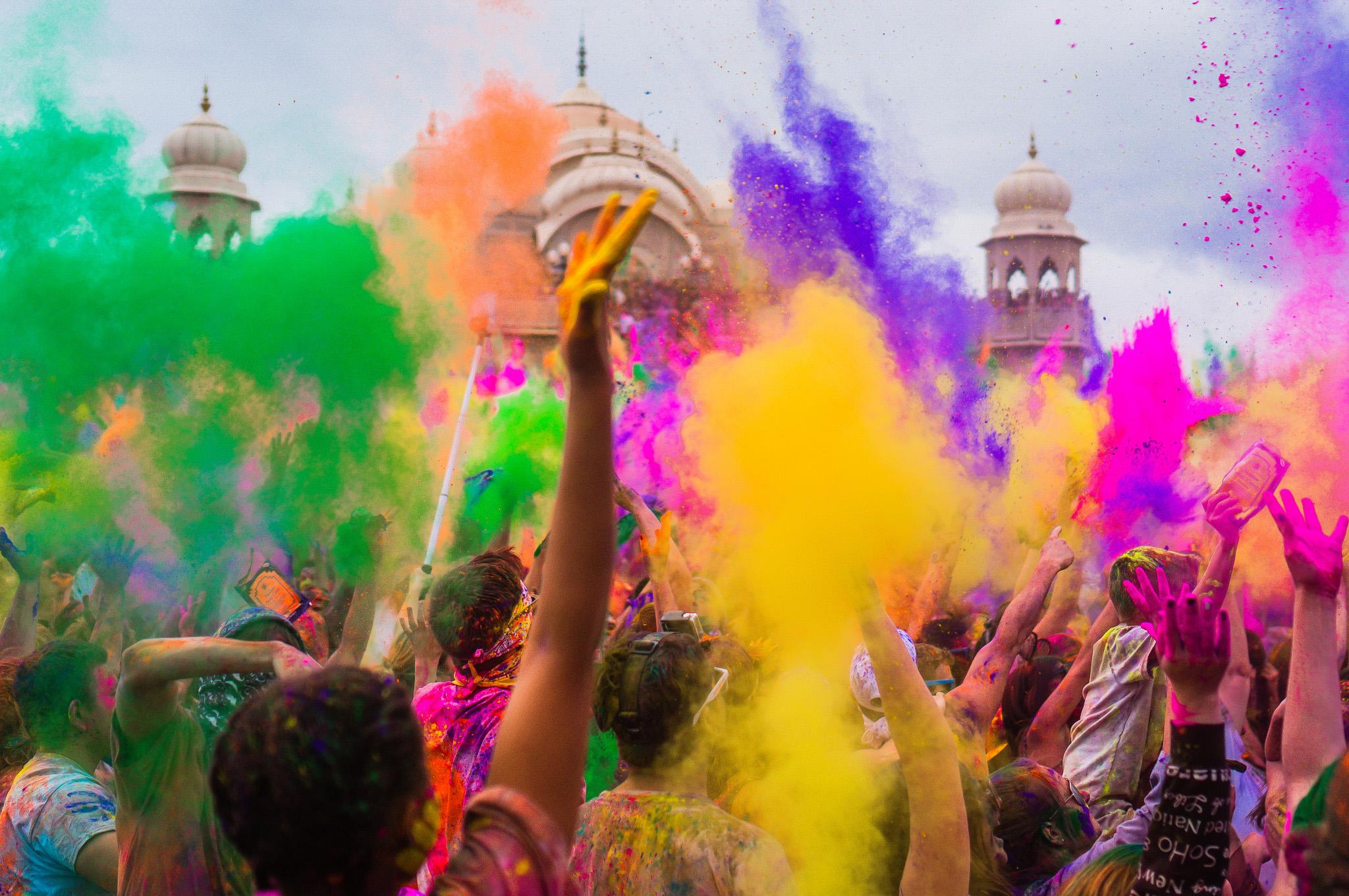 Holi is often associated with the colored powders that coat its participants (Steven Gerner / Flickr)