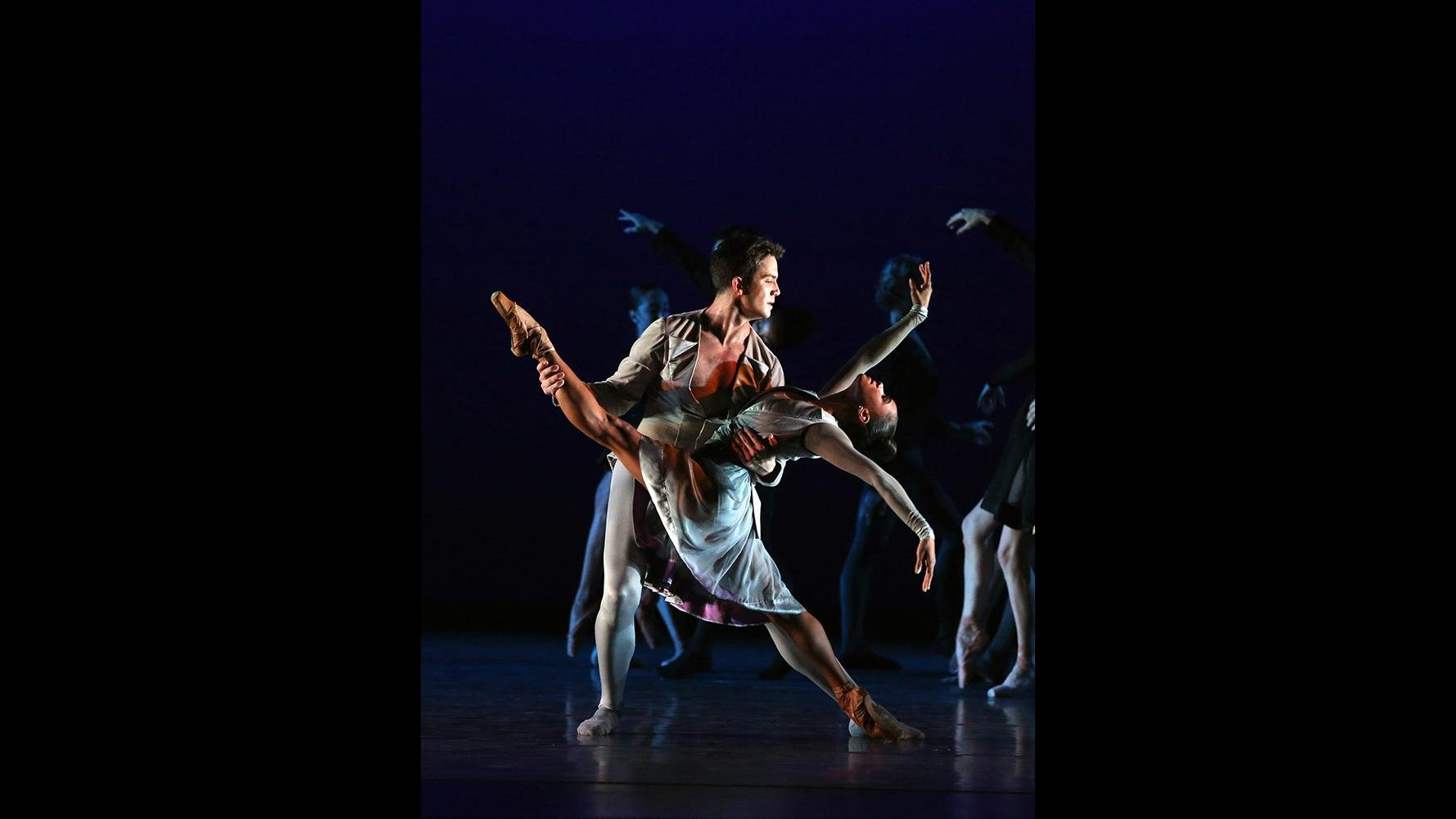 "Misty Copeland and Gray Davis in ""Thirteen Diversions."" (Credit: Marty Sohl)"