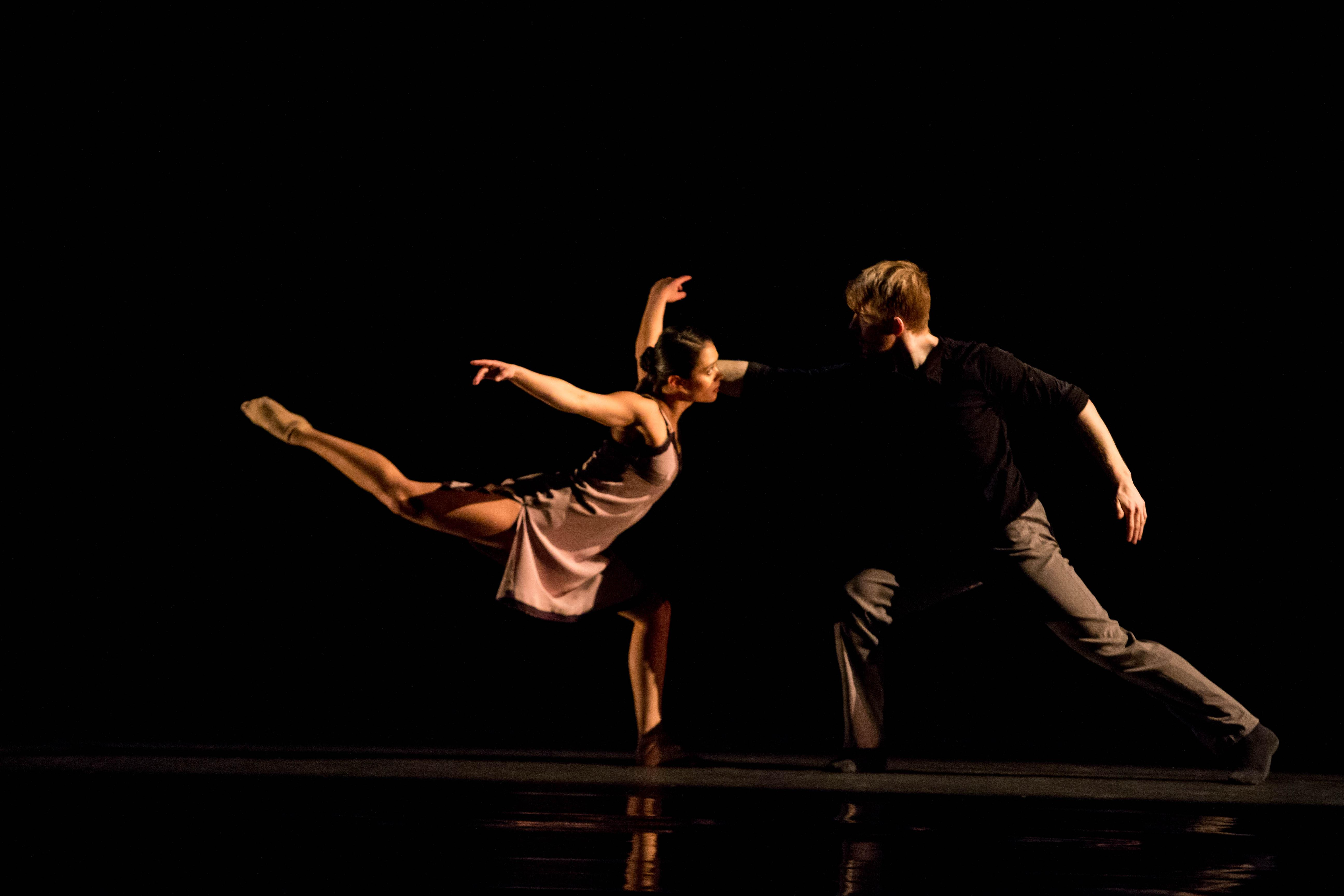"Dancers Alicia Delgadillo and Elliot Hammans in Alejandro Cerrudo's  ""Lickety-Split."" (Photo by Cheryl Mann)"