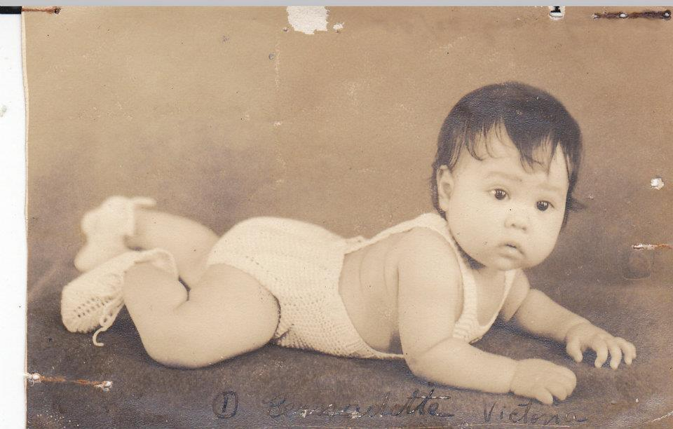 Bernadette Victoria, the first child of Demosthenes and Clotilde Martirez, and first to wear the sunsuit. (Courtesy of Mary Grace Pingoy)