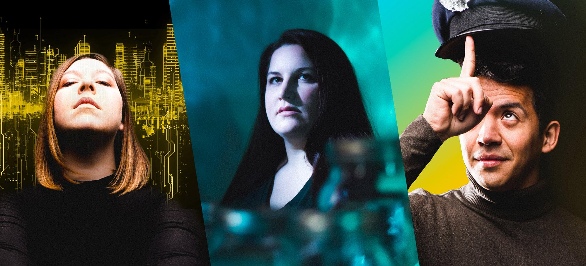 Promotional images for Chicago Opera Theater's 2020-2021 season. (Credit: Joe Mazza)