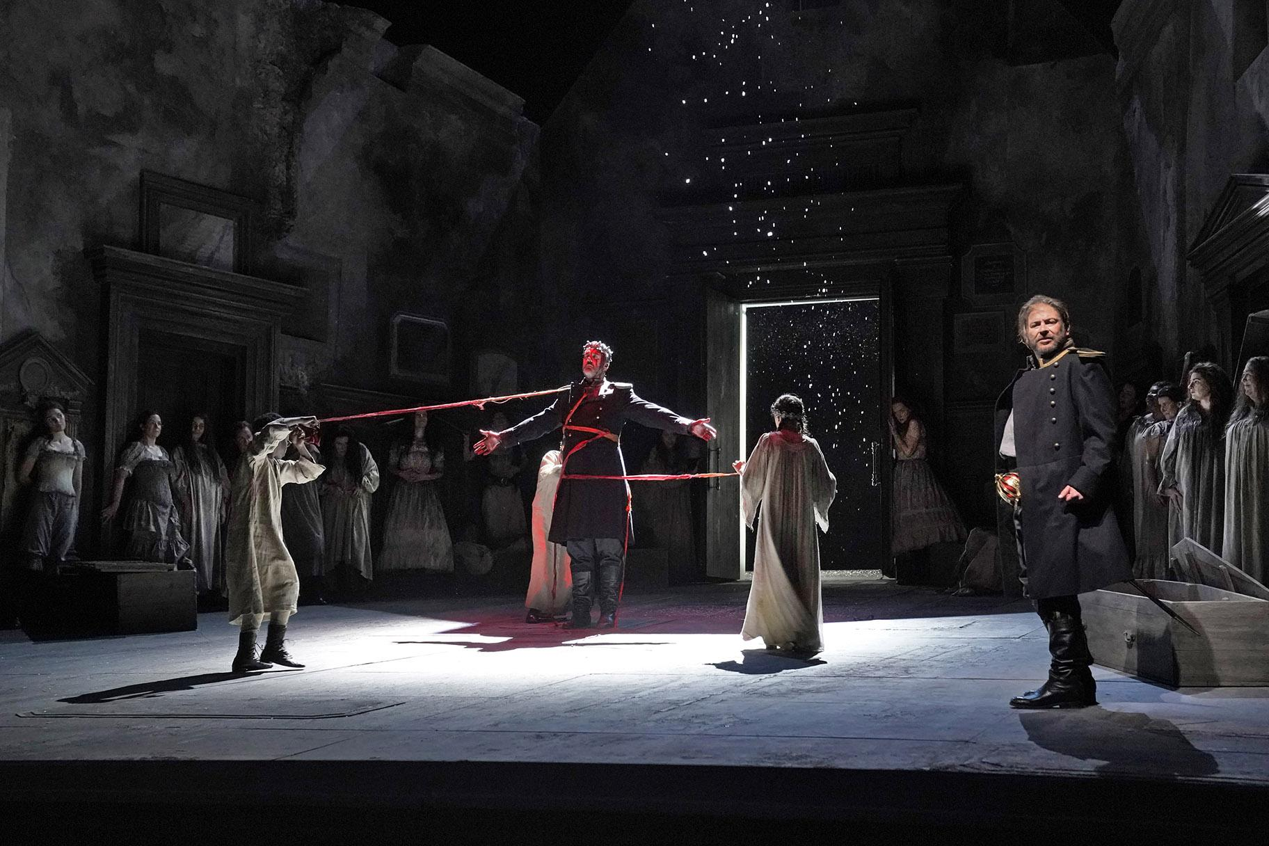 Christian Van Horn and Craig Colclough in the Lyric Opera production of