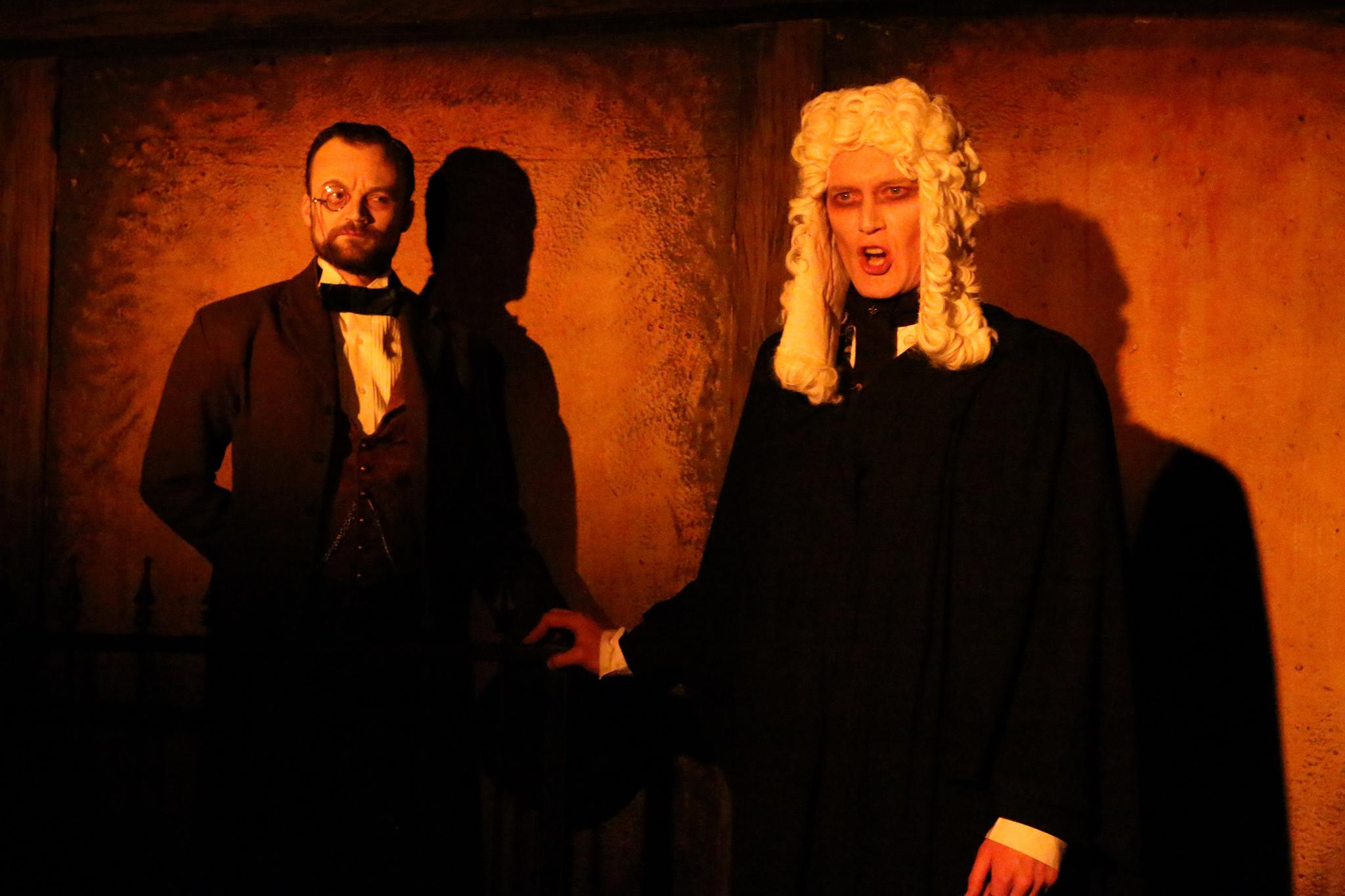 Kevin Webb as Beadle Bamford and John B. Leen as Judge Turpin (Credit: Cody Jolly Photography)