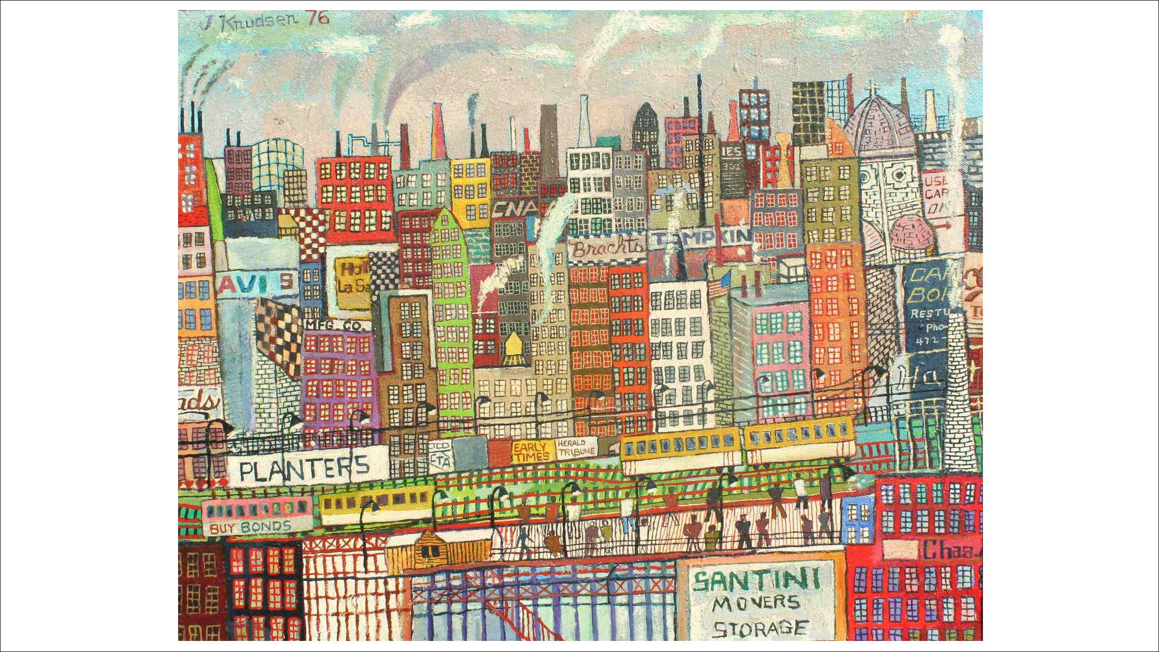 "John Knudsen, ""Untitled (Cityscape)"" 1976. Chicago's Richard Norton Gallery returns to SOFA Chicago with works by the late John Knudsen and Harold Haydon, among others. (Courtesy of SOFA Chicago)"