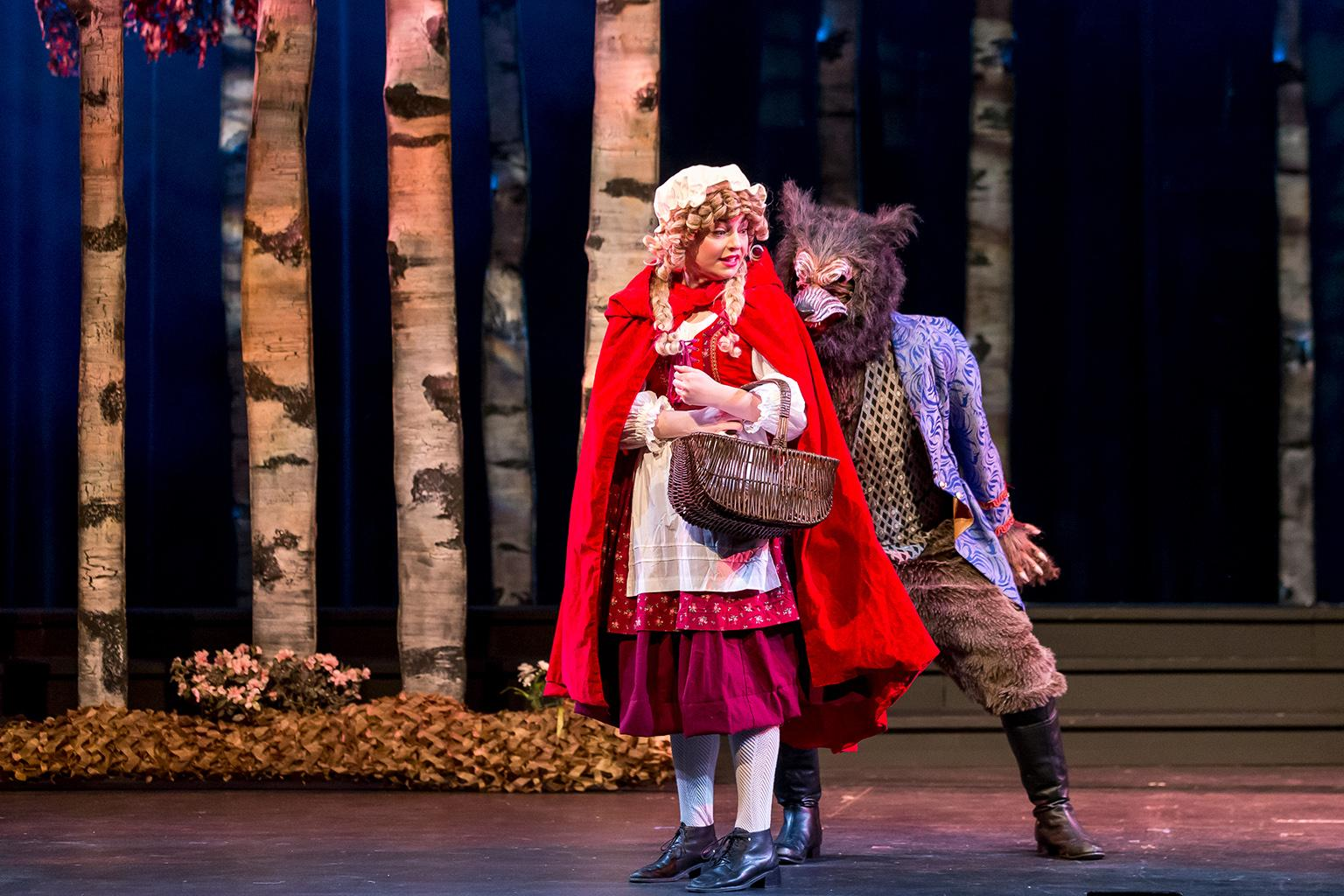"Cecelia Iole and Benjamin Sprunger in ""Into the Woods."" (Photo credit: Brett Beiner)"