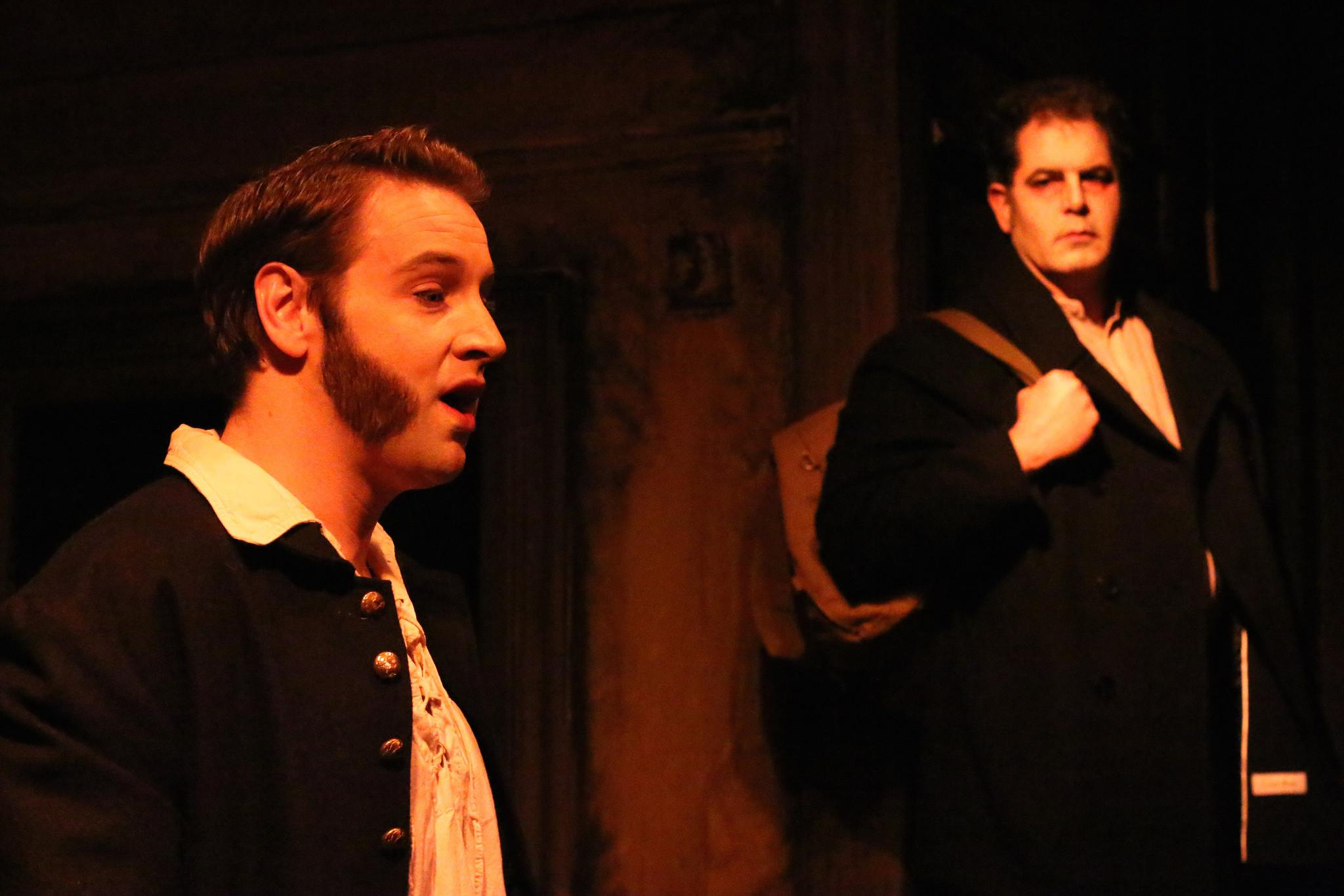 Nathan Carroll as Anthony Hope and Philip Torre as Sweeney Todd (Credit: Cody Jolly Photography)