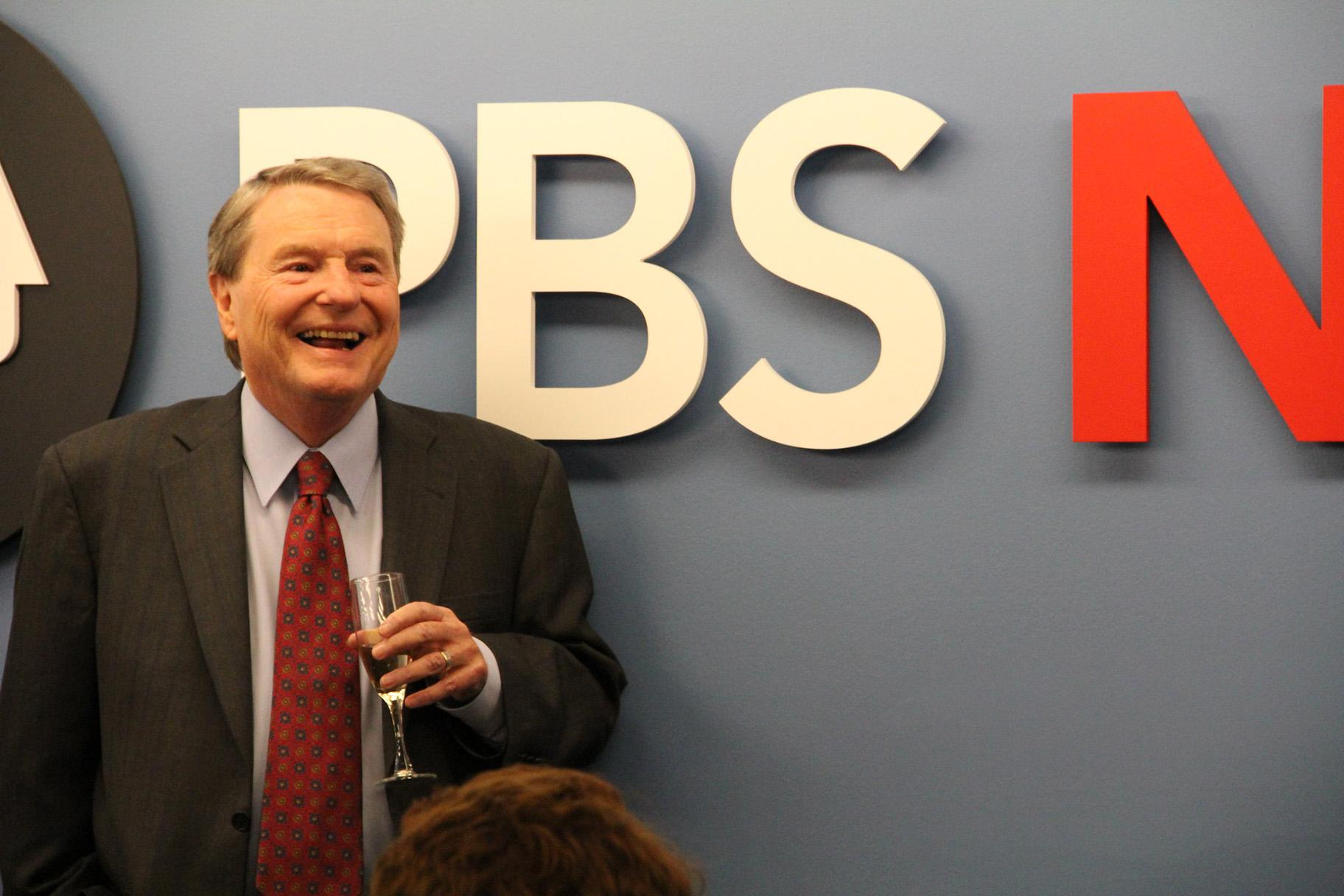 Jim Lehrer's retirement announcement in 2011. (PBS NewsHour / Flickr)