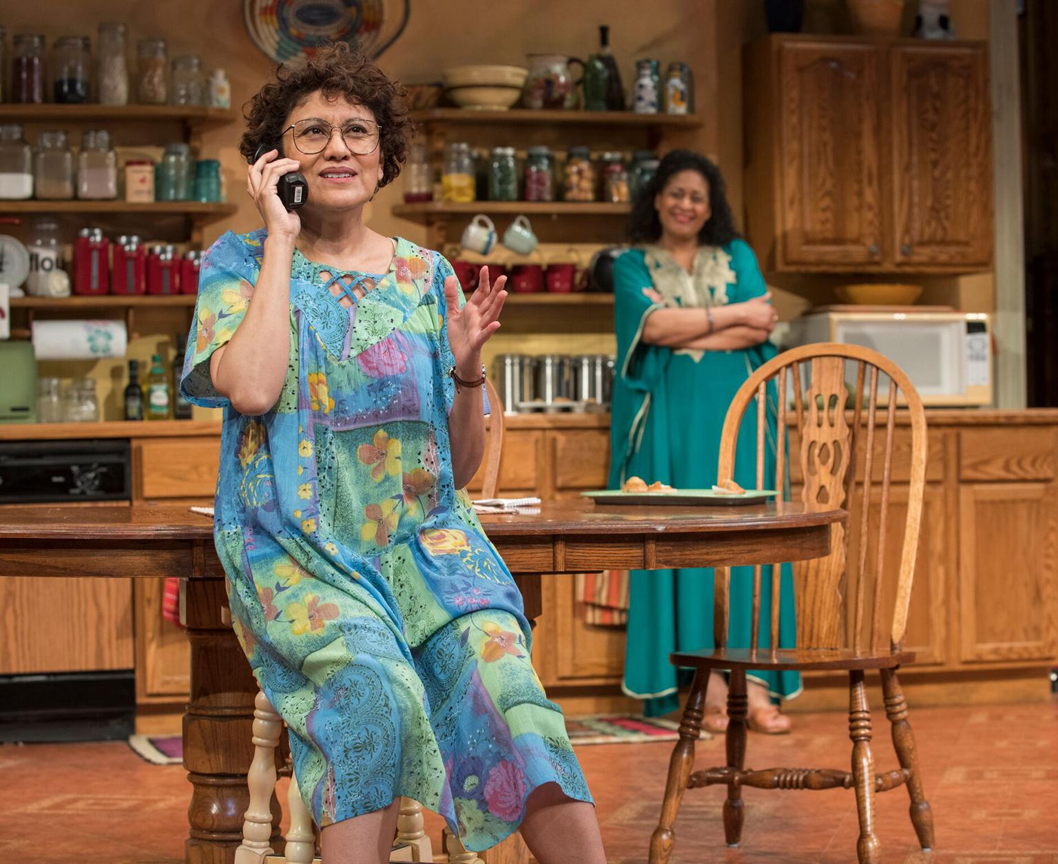 "Sandra Marquez, left, and Ora Jones in ""The Roommate."" (Photo credit: Michael Brosilow)"