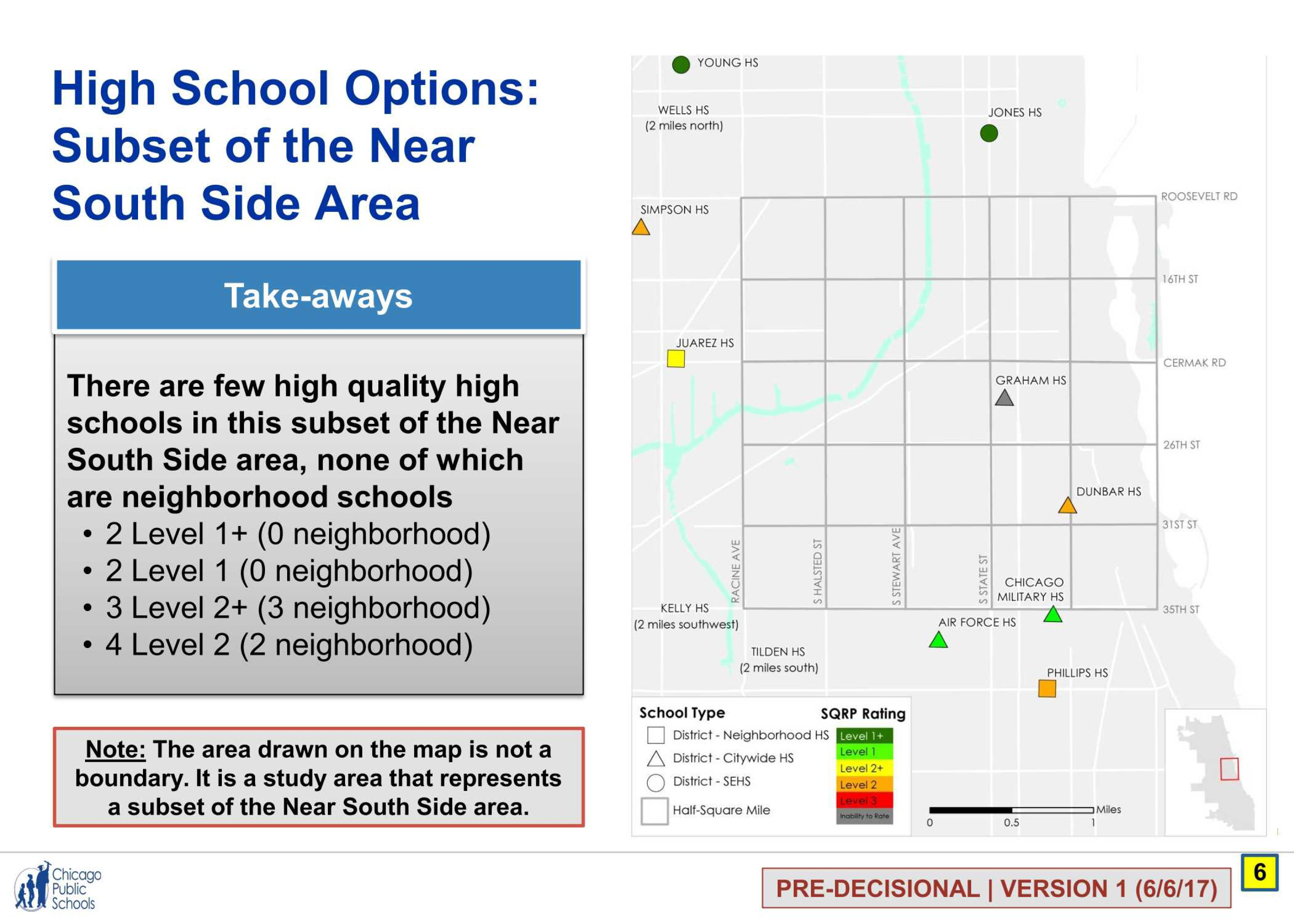 But that same map includes only four similarly rated high schools – and of  those, two are selective enrollment schools, while the others are military  ...