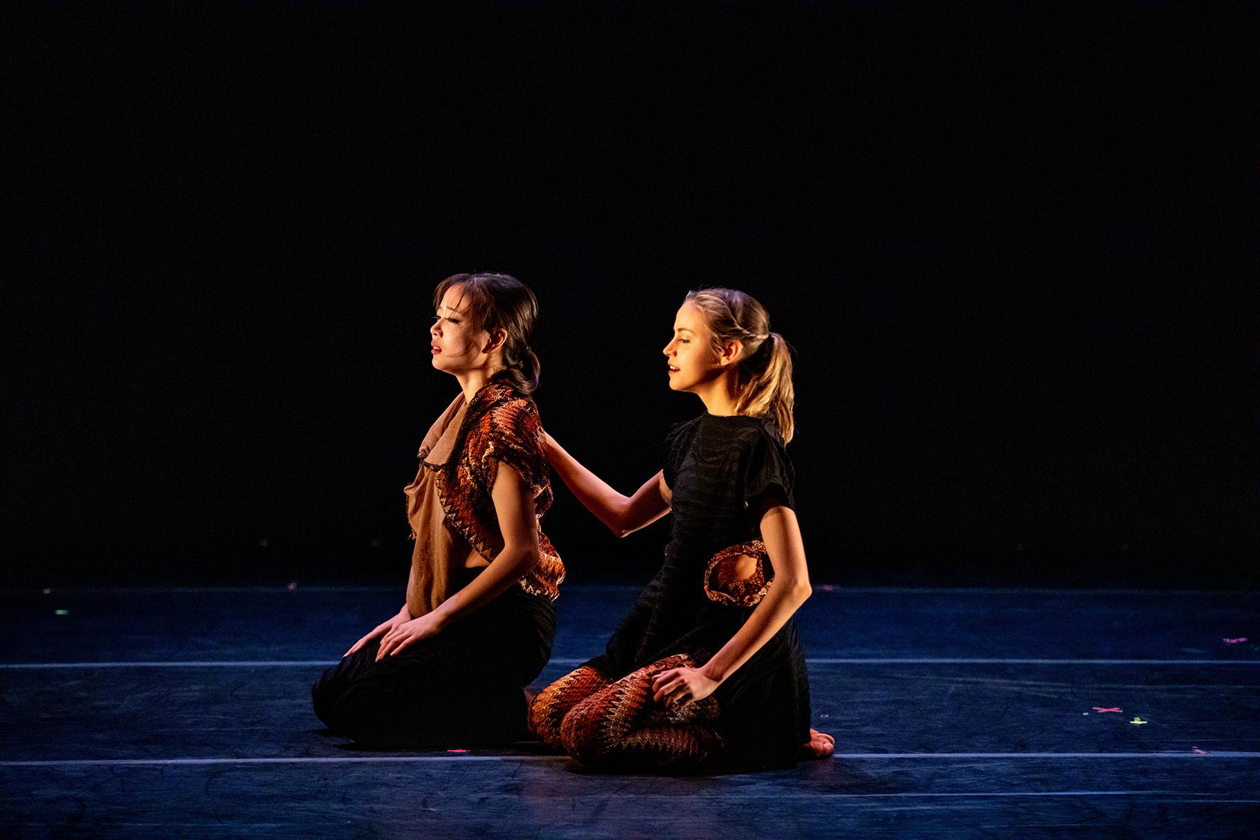 "Marin Soki and Abbey Yoder in ""Give the People What They Want"" by Marissa Osato (Photo by Cheryl Mann)"