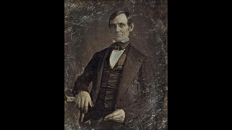 First photograph of Abraham Lincoln taken around 1846. (Courtesy Library of Congress)